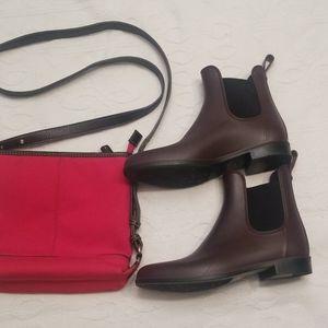 Sam Edelman  brown & black rain boots 9W